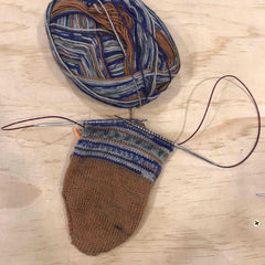 Magic loop technique for knitting socks