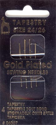 Pony Gold-Plated Tapestry Needles
