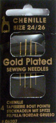 Pony Gold-Plated Chenille Needles - Morris & Sons Australia