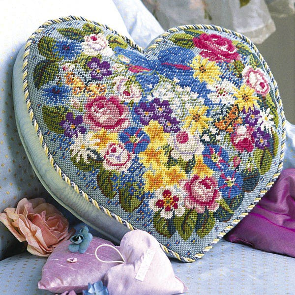 Victorian Flowered Heart