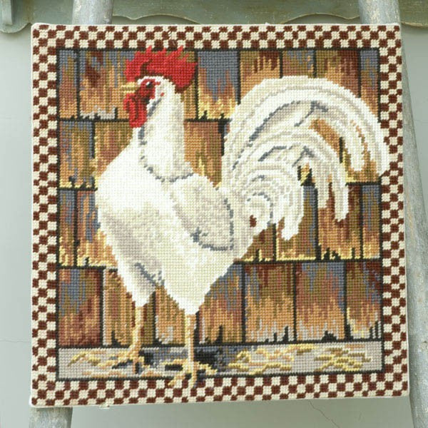 White Leghorn Cushion - Morris & Sons Australia