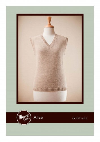 Alice Women's 4ply Vest with V neck