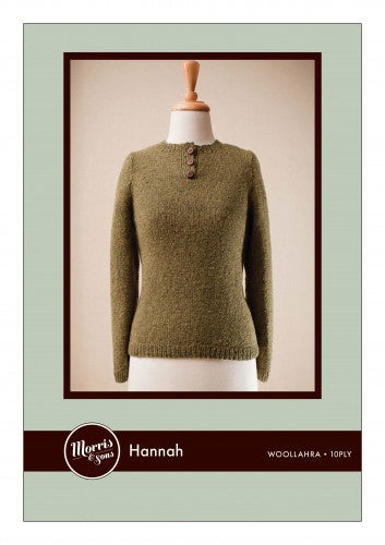 Hannah Womans 10ply Jumper with Placket and set in sleeves