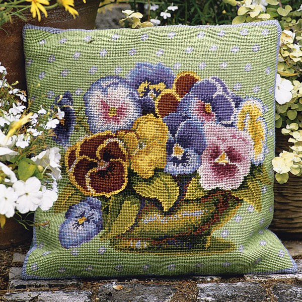 Pansy Bowl Cushion