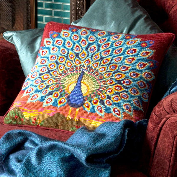 Peacock at Sunset Cushion