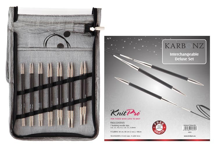 Knit Pro Karbonz Interchangeable Needle Set - Morris & Sons Australia