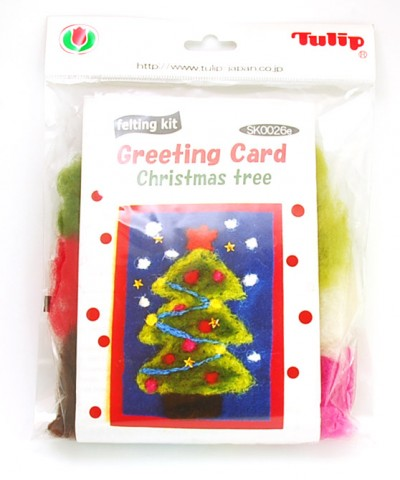 Tulip Christmas Card Tree Felt Kit