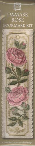 Damask Rose Bookmark