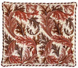 Acanthus Leaves (Red / Ivory Bkgd)