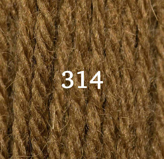 Appletons Tapestry Wool 314 Brown Olive