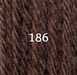 Appletons Tapestry Wool 186 Chocolate
