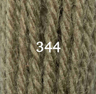 Appletons Tapestry Wool 344 Mud Olive Green