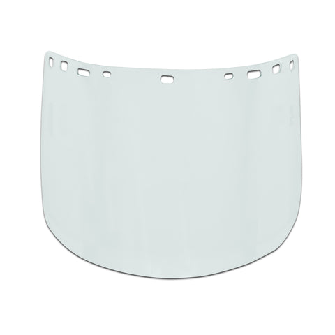 "Visor, Tritan, Clear, Heat-Formed, 8"" x 15"" x .04"""