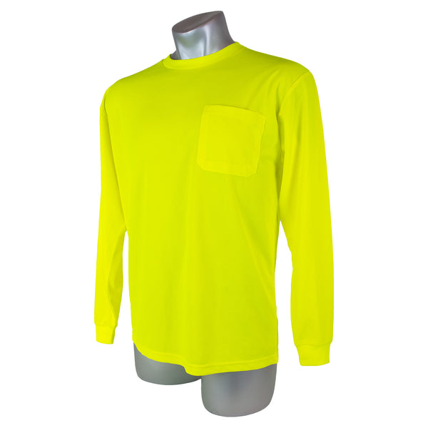 High Visibility Yellow Safety Long Sleeve Shirt