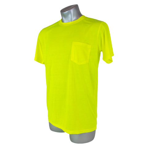 High Visibility Yellow Safety Short Sleeve Shirt-Pack of 10