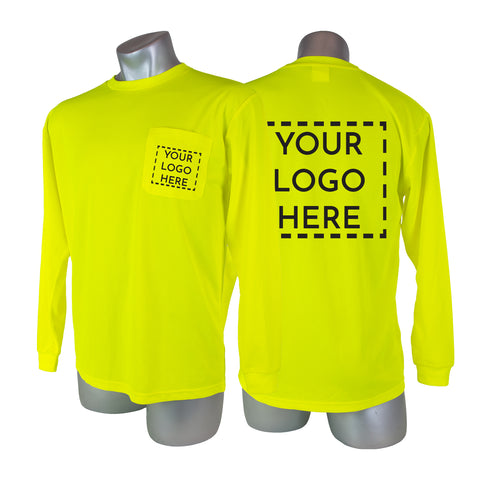 Custom High Visibility Safety Long Sleeve Shirt