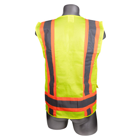 High Visibility Yellow Safety Surveyor Vest-Pack of 10