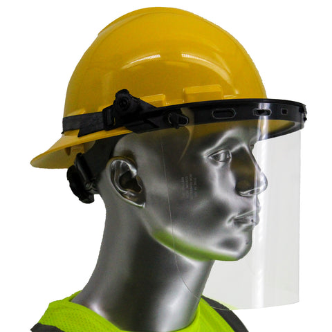 Full Brim Yellow Hard Hat with Visor