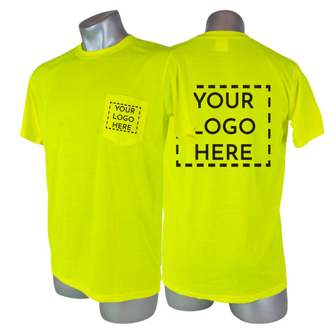 Custom High Visibility Safety Short Sleeve Shirt