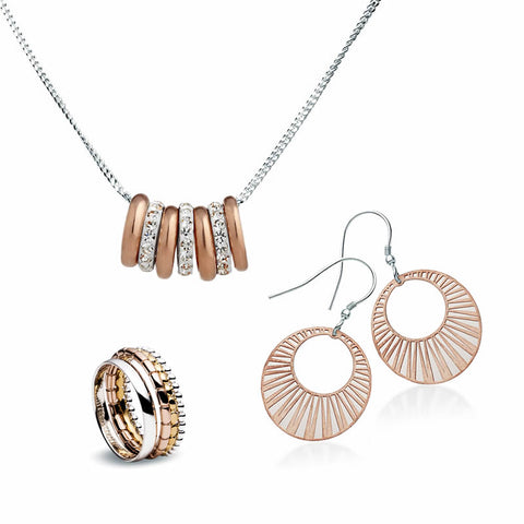 Rose, Yellow Gold and Silver Jewellery Collection