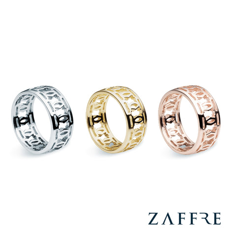 Silver Rose Gold Trellis Rings