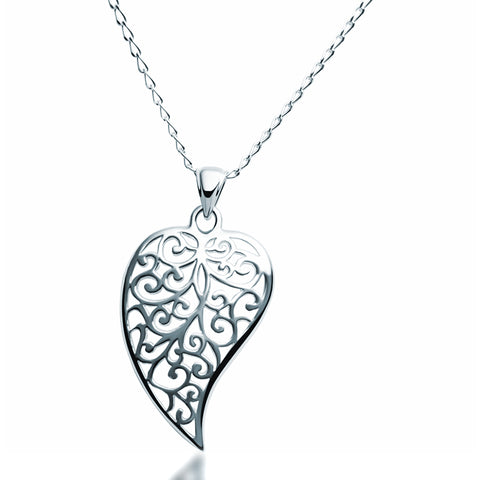 Sterling Silver Filigree Pendant - Silver Jewellery