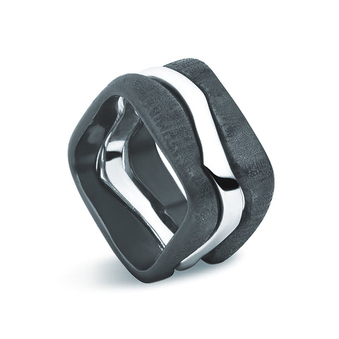 Unite Ring - Two Tone Sterling Silver