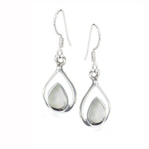 Mother Of Pearl Stirling Silver Drop Earrings