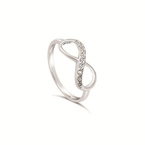 Infinity Ring Stirling Silver - CZ