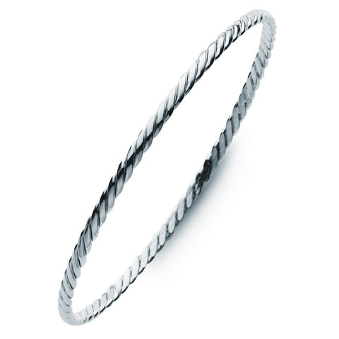 Silver Twist Golf Bangle - Zaffre Jewellery - 1