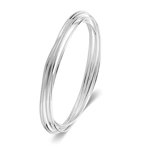 Lucky Seven Entwined Bangle