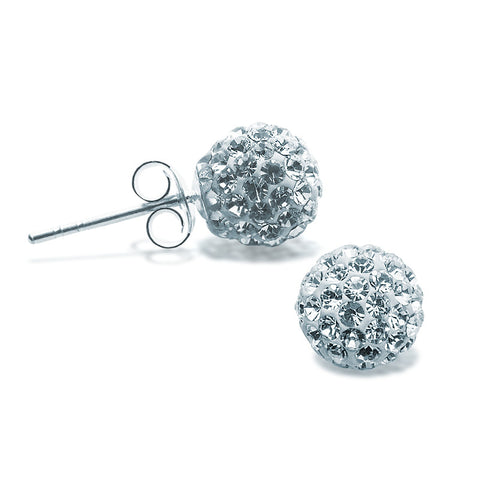 Swarovski Crystal Studs - 8mm - Zaffre Jewellery - 1