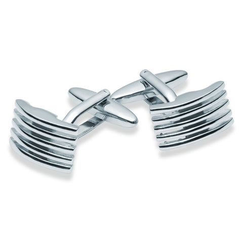 Grille Finish Cufflinks - Zaffre Jewellery - 1