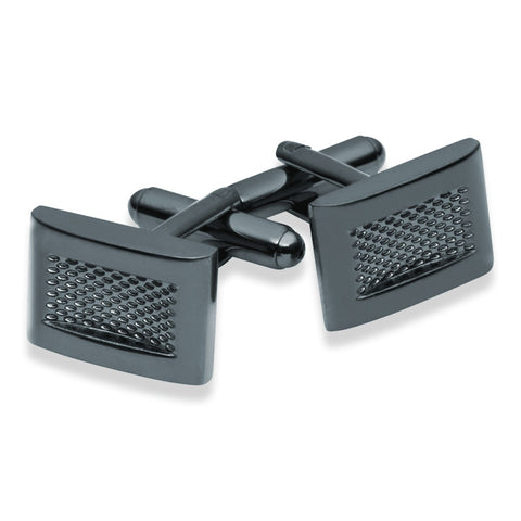 Dark Grey Knurled Cufflinks - Zaffre Jewellery - 1