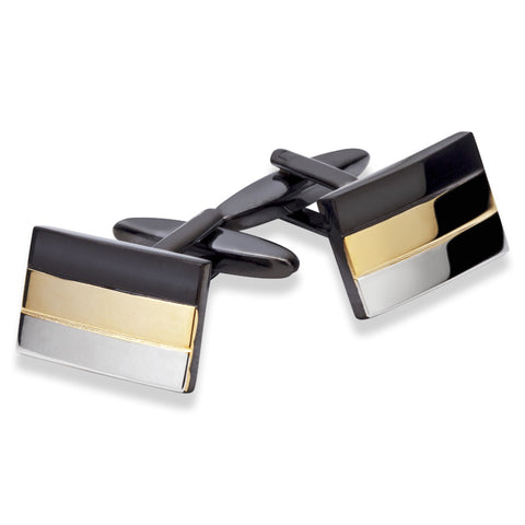 Tri Colour Cufflinks - Zaffre Jewellery - 1