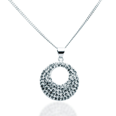 Swarovski Crystal Lunar Necklace - Zaffre Jewellery - 1