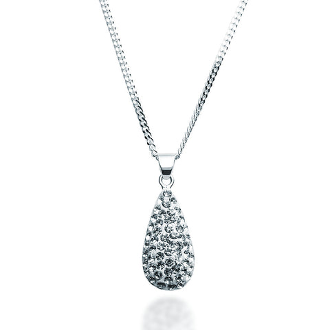 Swarovski Crystal Teardrop Necklace - Zaffre Jewellery - 1