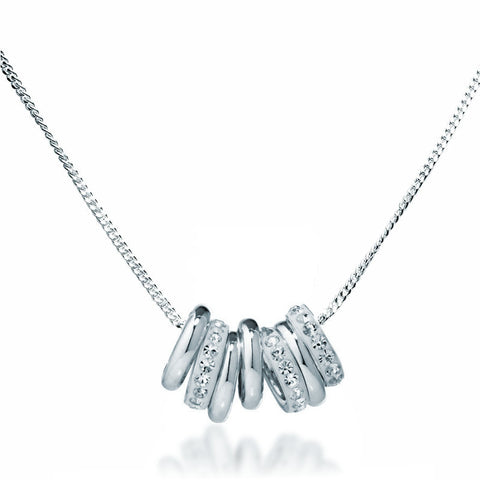 Swarovski Crystal Ring Collection Necklace - Zaffre Jewellery - 1