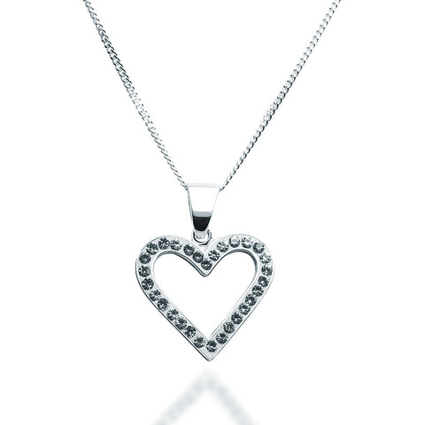 Swarovski Crystal Heart Necklace - Classic - Zaffre Jewellery - 1