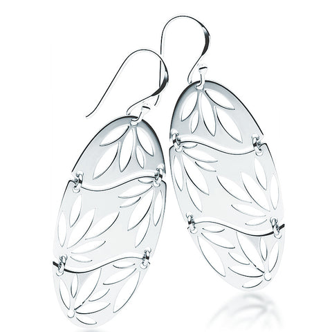 Japanese Water Lily Earrings - Zaffre Jewellery - 1