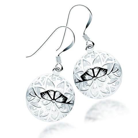 Silver Filigree Earrings - Zaffre Jewellery - 1