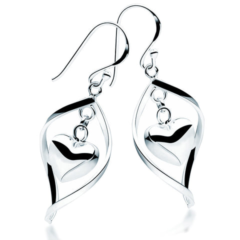Heart & Marquise Earrings - Zaffre Jewellery - 1