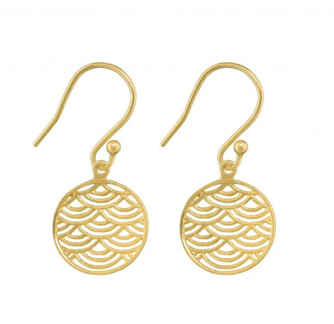 Wave Crest Earrings - Gold