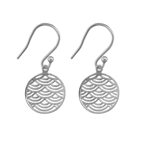 Wave Crest Earrings - Silver