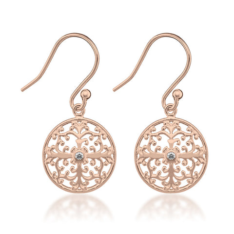 Capri Earrings - Rose Gold - Zaffre Jewellery - 1