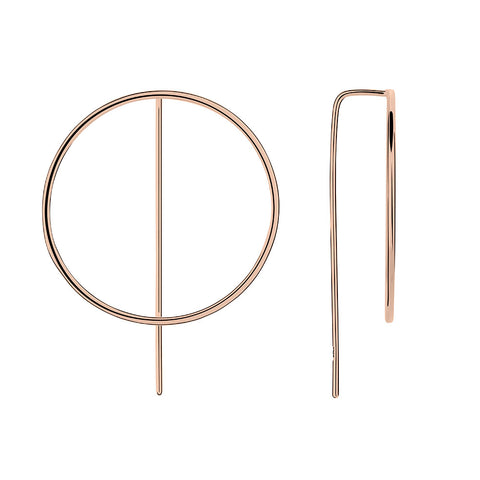 Circle Earrings - Rose Gold