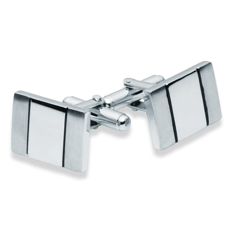 Matte Gloss and Black Cufflinks - Zaffre Jewellery - 1