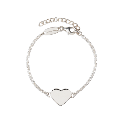 My Little Silver Glossy Heart Bracelet