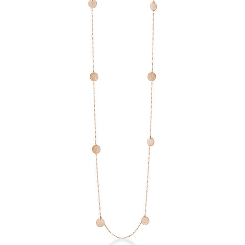 Long Catalina Necklace - Rose Gold 80cm - Zaffre Jewellery - 1