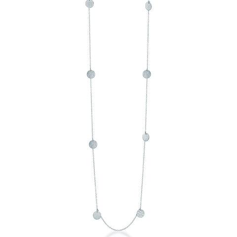 Long Catalina Necklace - Silver 80cm - Zaffre Jewellery - 1
